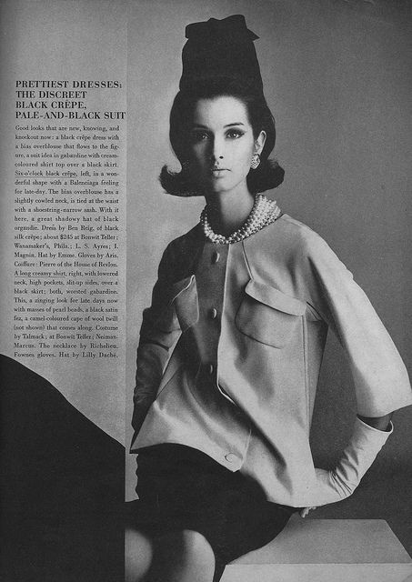 Veronica Hamel for March Vogue 1964  By Irving Penn