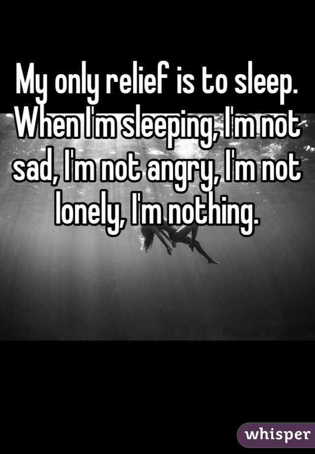 And when I can't sleep, I'm everything all at once....