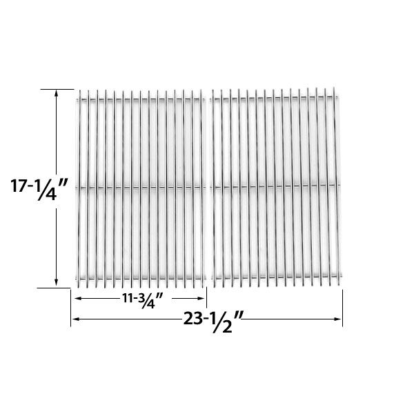 2 PACK STAINLESS STEEL COOKING GRID FOR WEBER, NEXGRILL, KALAMAZOO, KENMORE GAS MODELS Fits Compatible Weber Models : 1100, 211298, 211901, 219798, 221901, 2251001, 2251298, 2251398, 2251411, 2261001 2261298, 2261411, 2261698, 227298, 2281001, 2281398, 2281698, 2291001, 2291398, 2291411, 2291698, 2291699, 2350598, 2351001, 2351298, 2351398 , 2351411 Read More @http://www.grillpartszone.com/shopexd.asp?id=35568&sid=29715