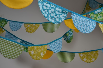 Petits Pirates: Fabric garland. Stoffen slinger.
