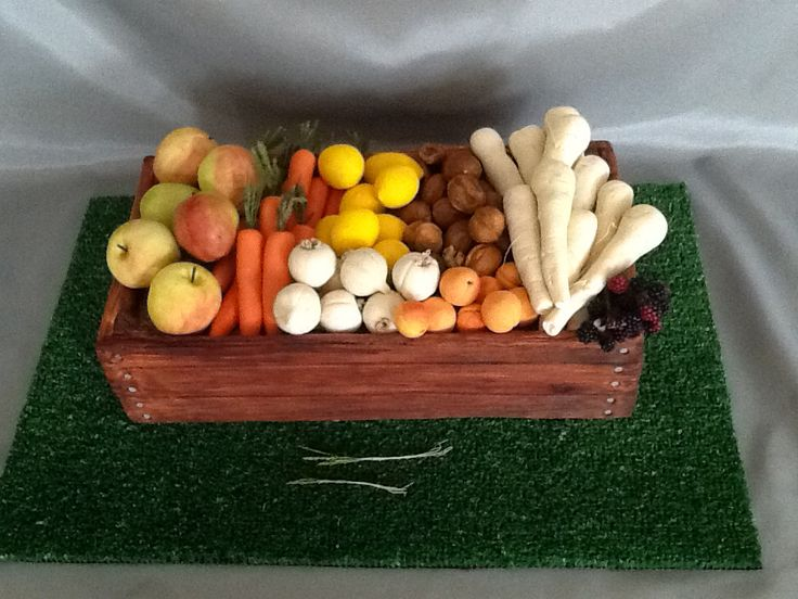 My Gardener's Harvest Demonstration piece. All made from sugar. Even the box. by Jill Newman