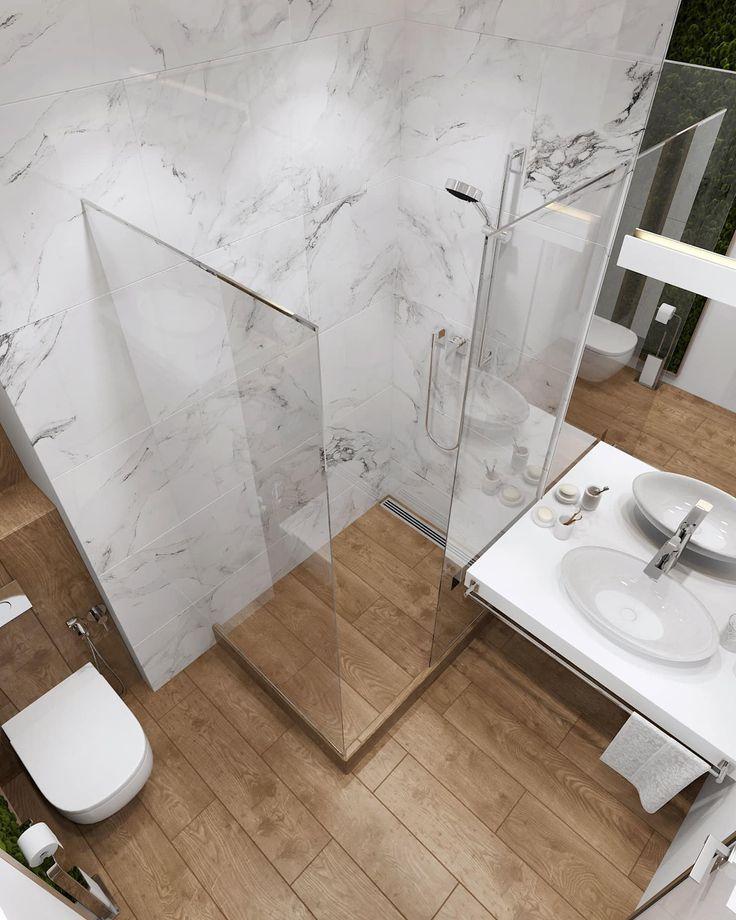 Öko-Stil in einer neuen Wohnung: Badezimmer in. der autor ist inna azoresky