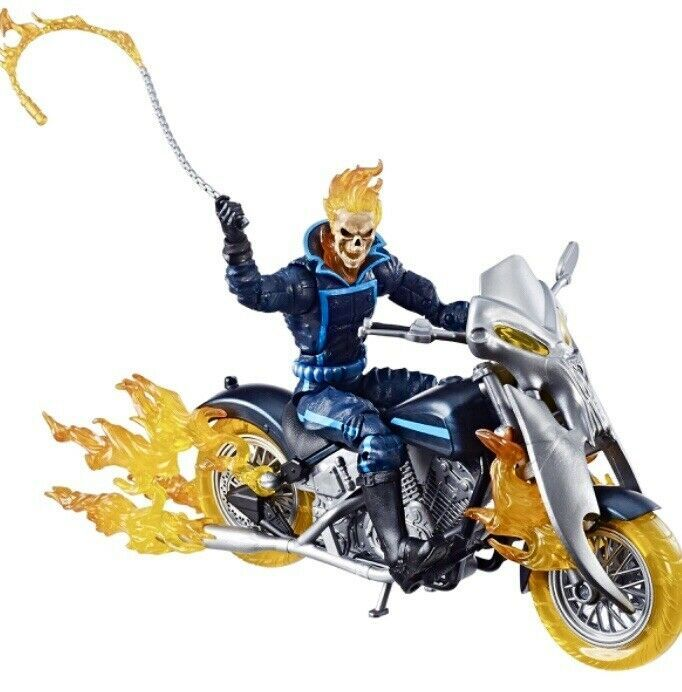 "Marvel Legends Ultimate Ghost Rider 6/"" Figure on Flame Deluxe Motorcycle Wave 1"
