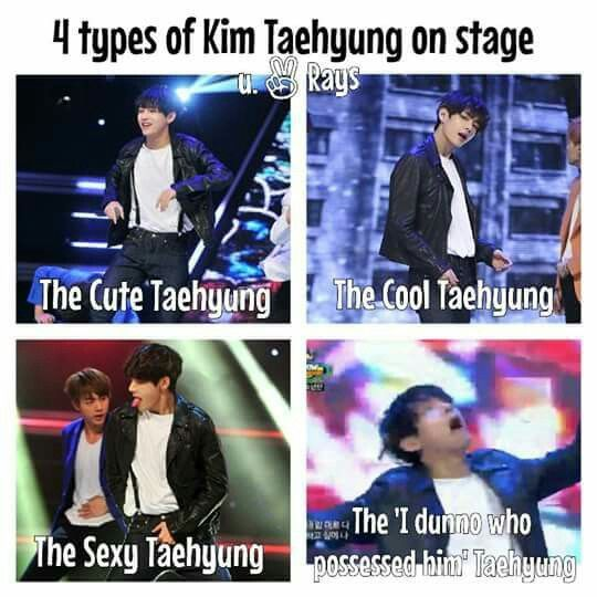 4 types of Kim Taehyung on stage | The last one tho LOL