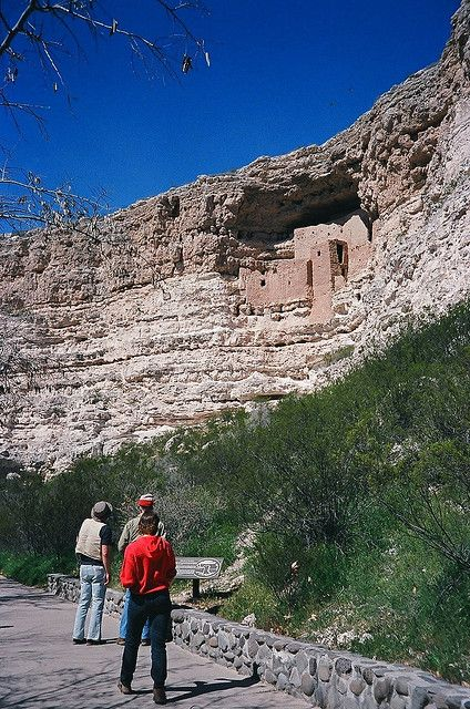 Montezuma Castle, Arizona.   Ancient cliffdwellers' residence in the American southwest.     Support the Great State of Arizona!