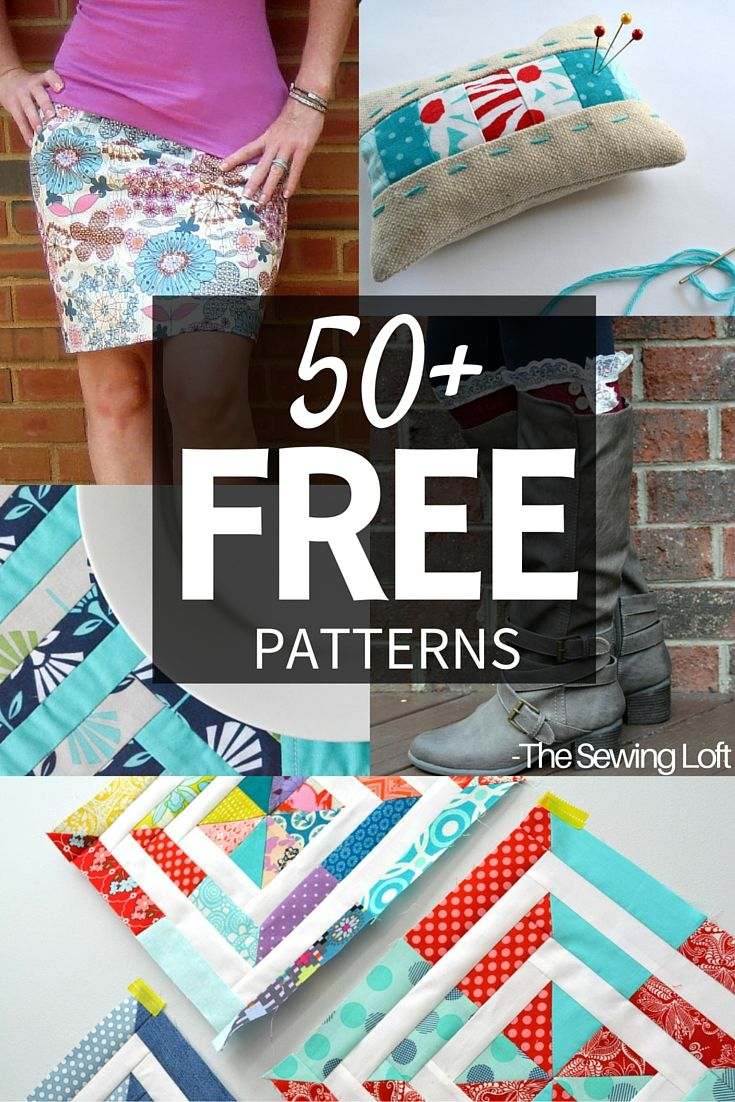 Mega round up of over 50 free sewing patterns from The Sewing Loft. Patterns range from quick and easy to custom clothing.