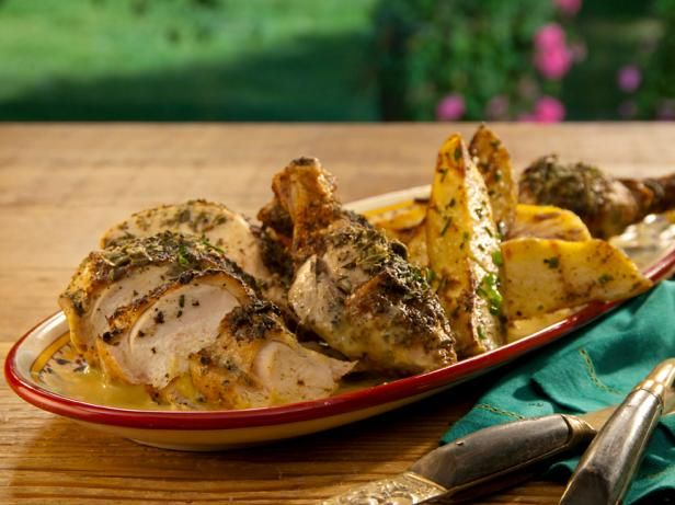 Bobby Flay, BBQ Addiction: Cornell Chicken with Grilled Steak Fries