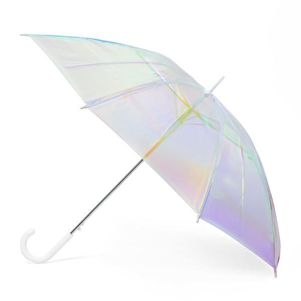 FCTRY Holo Umbrella Iridescent Holographic Clear