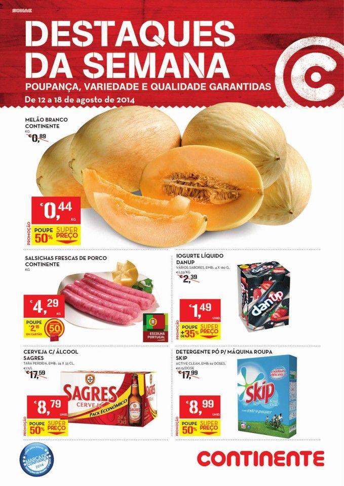Promoções Folheto Continente Online! - de 12 a 18 de agosto - Destaques da Semana