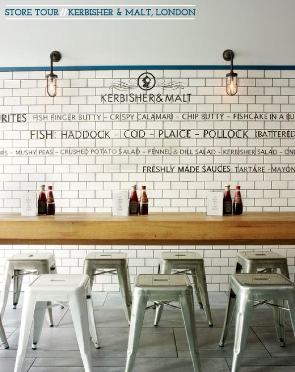 Bright.Bazaar: Store Tour: Kerbisher & Malt, London. Bistro restaurant idea wall