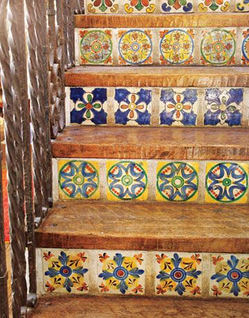 tiles on stairs - loved the ones that used to be on 2 1/2 Men  :)