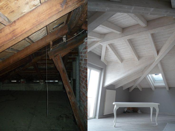Prima e dopo #ristrutturazione #recupero #tettiinlegno