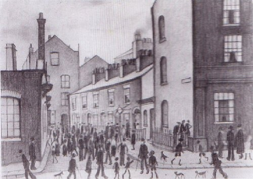 L.S. Lowry - Ancoats, Manchester 1929, Graphite