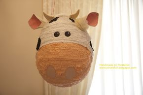 "A sweet sweet cow piñata for your party!  It would be great for a ""milk & cookies"" or ""on the farm"" party theme!  I can customi..."