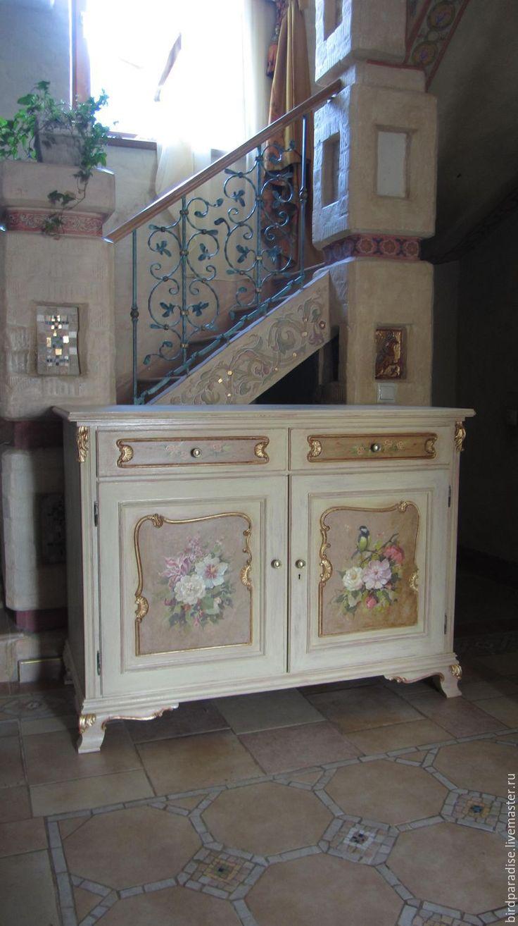 Купить Комод антикварный реставрированный расписной.Мебель антикварная. - Мебель, антикварная мебель, комод