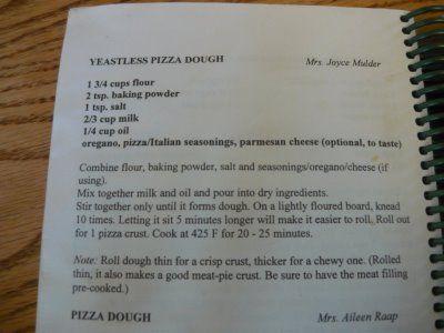 Yeastless pizza crust - ranch sauce & chicken pizza?  Hmmmm . . .