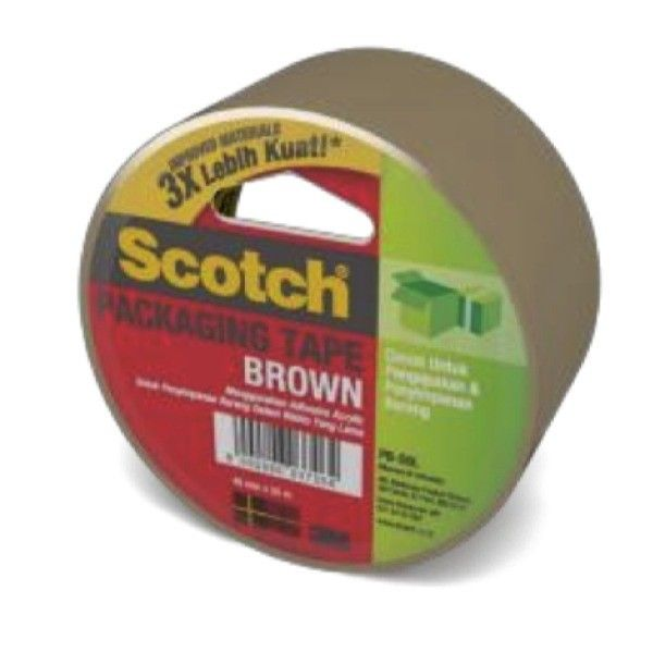 Scotch Tape 3M PB-50L Brown Packaging Tape (Lakban Isolasi) 48mm x 50 m - Jual Lakban Coklat Murah (grosir).  Scotch A2J Clear Packaging Tape (Lakban Isolasi)(48mm x 50 m, tebal: 0.05 mm).     (36 Roll/Ctn).  - Harga per Ctn.  http://tigaem.com/single-tape/1002-scotch-tape-3m-pb-50l-brown-packaging-tape-lakban-isolasi-48mm-x-50-m-jual-lakban-coklat-murah-grosir.html  #scotchtape #lakban #isolasi #3M