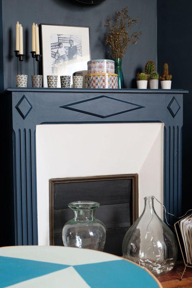 les 25 meilleures id es concernant meubles peint en bleu sur pinterest peinture de craie bleue. Black Bedroom Furniture Sets. Home Design Ideas