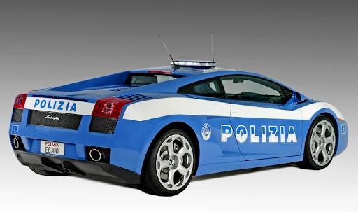 Italian police---Lamborgine Gallardo