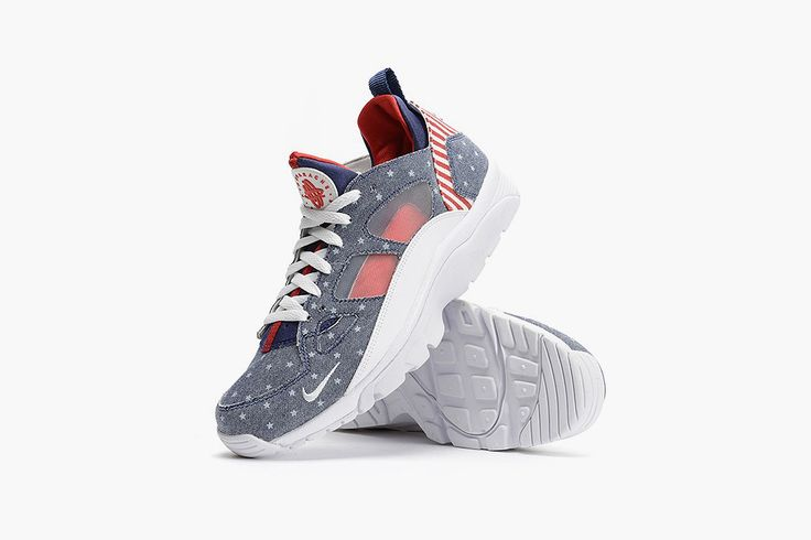 "The latest all-American sneaker for the 4th of July comes in the form of the Nike Air Trainer Huarache Low ""USA."" Check it out here."