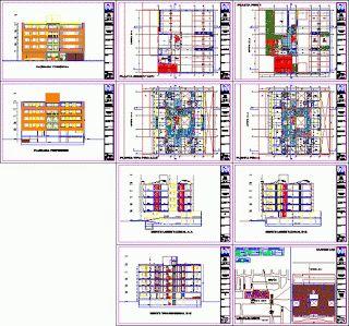 Projet de construction de l'appartement Immeuble dwg Appartement projet de construction Immeuble - plantes - sections - élévations