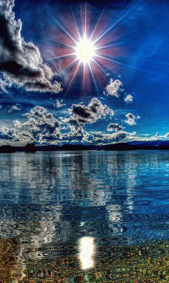 lac sous le soleil animé