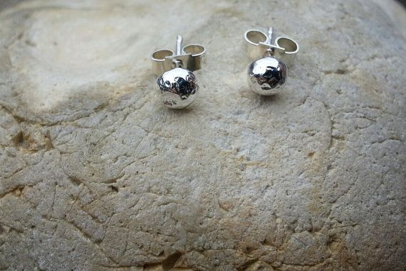 Sterling Silver Reticulated Stud Earrings by SilverbirdDesignsUK