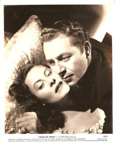 "MICHELE MORGAN & PAUL HENREID "" Joan of Paris"" Orig1942"