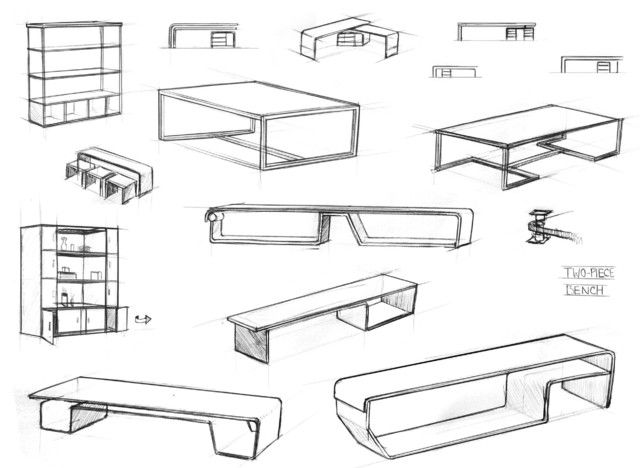 Superb Unique Picture Furniture Design Sketches With Modern