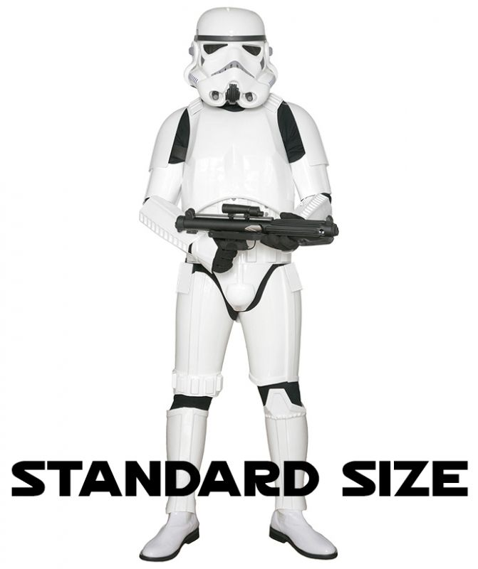 STAR WARS : Costumes and Toys : Star Wars Stormtrooper Costume Armour with Accessories and Ready to Wear - Original Replica - A New Hope - STANDARD SIZE