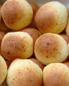Pan de yuca or pan de queso  Ingredients:    2 ½ cups yuca starch (sometimes also called yuca flour) or tapioca starch    4 cups grated mozzarella cheese    1 tsp baking powder    Pinch of salt    1 stick of butter, room temperature, cut into 8 pieces    2 large eggs    Optional 1-2 tbs water, if needed