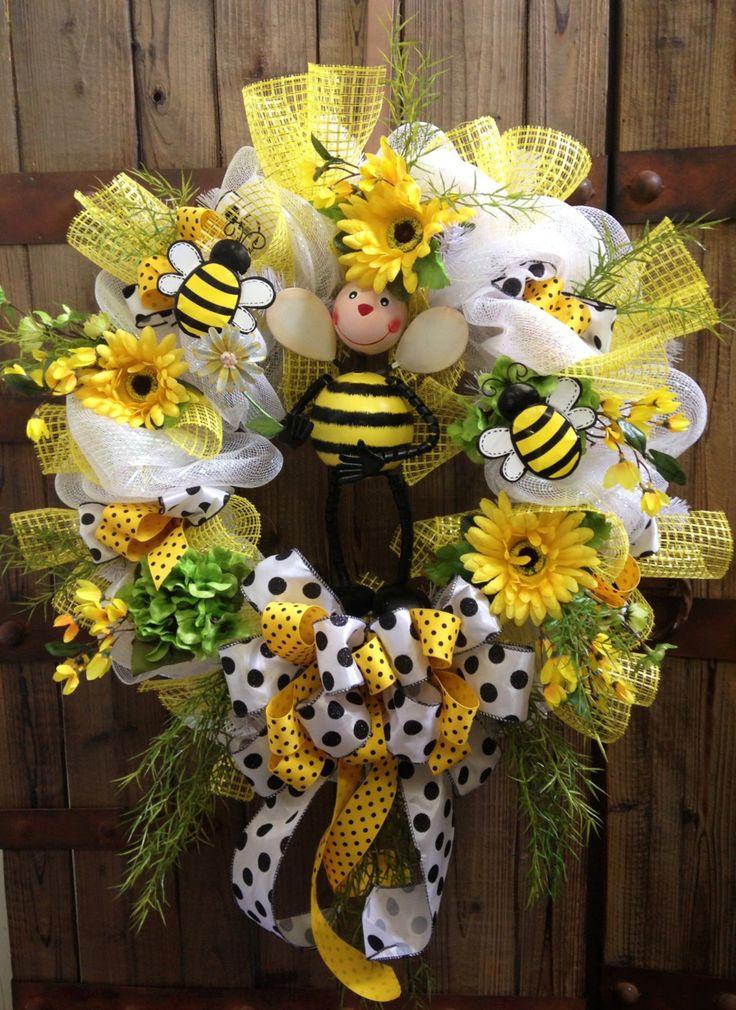 Bumble bee wreath. $95.00, via Etsy.