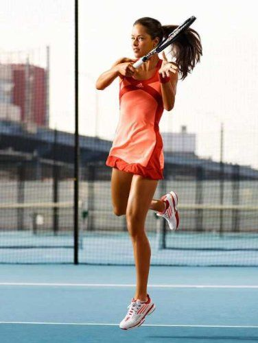 Adidas adizero Womens ClimaCool Formotion Ana Ivanovic Tennis Dress - Peach Red-Womens Tennis Clothes and Gear