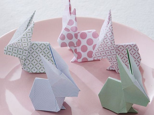 Lapin origami paques