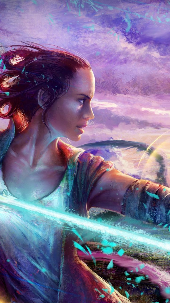 720x1280 Wallpaper Daisy Ridley Star Wars Art Star Wars