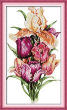 Noble tulips flowers Counted Cross Stitch 11CT Printed 14CT Cross Stitch Set Cross-stitch Kit Crafts Sewing Needlework H439(China (Mainland))