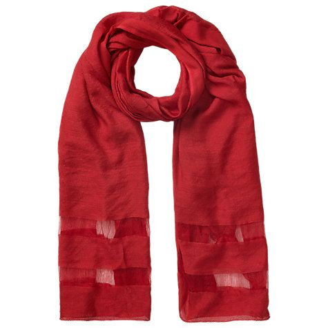 Buy East Slinky Poppy Scarf, Red Online at johnlewis.com