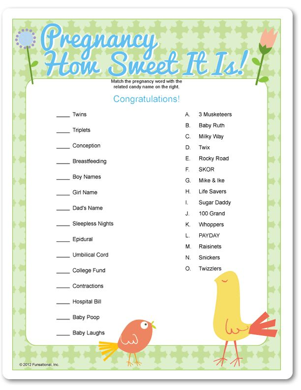 Printable pregnancy how sweet it is blue birds baby for Animal decoration games for girls