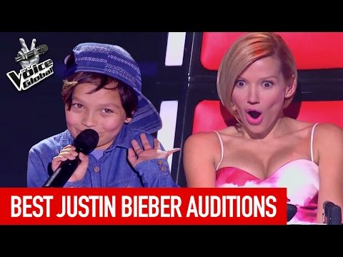 BEST JUSTIN BIEBER BLIND AUDITIONS IN THE VOICE KIDS - YouTube