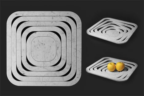 stacked square fruit bowl