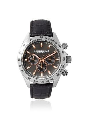 84% OFF Stuhrling Men's 564L.01 Champion Black/Grey Stainless Steel Watch