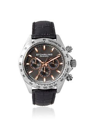 84% OFF Stuhrling Men's 564L.01 Champion Black/Grey Stainless Steel Watch