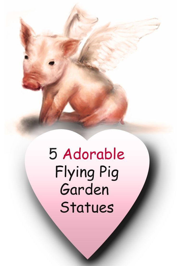 Flying Pig Garden Statue
