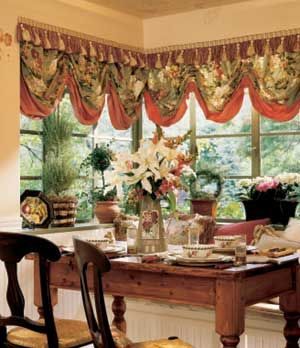 Window Toppers French Country Dining And Dining Nook On