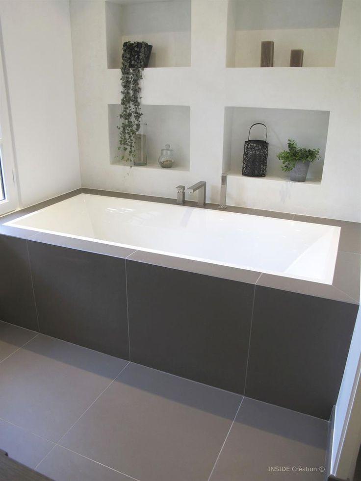 Les 25 meilleures id es de la cat gorie escalier beton sur for Rangement baignoire bois