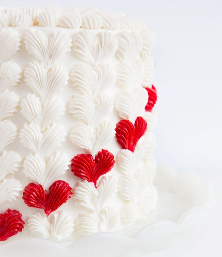 Buttercream Heart Surprise Inside Cake - Just wait until you see the INSIDE of this cake! (There is a SURPRISE!)