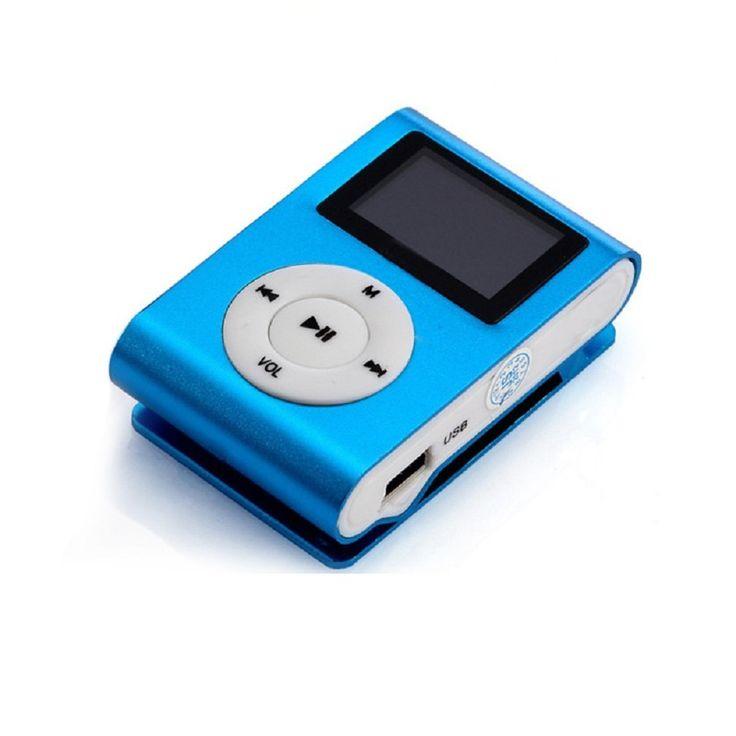Malloom® Mini Lettore Mp3 clip del giocatore Schermo LCD sostegno 32GB Micro SD TF Carta (Blu): Amazon.it: Elettronica