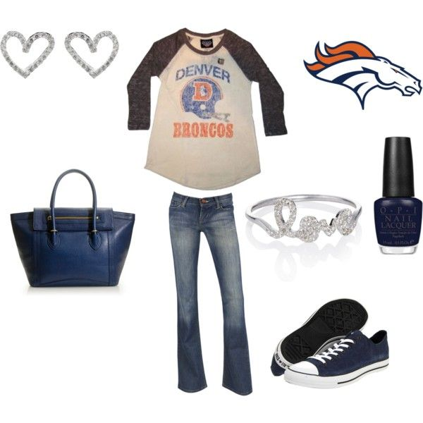 casual football love outfit