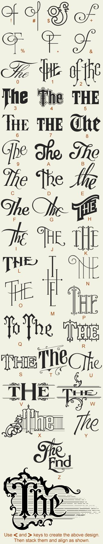 Great Fonts...it's all about the font!