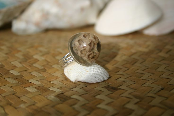 """Ocean Flower"" Shell Ring  from ShellCentric by DaWanda.com"